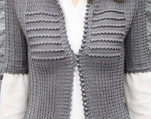 Chaqueta crochet formal
