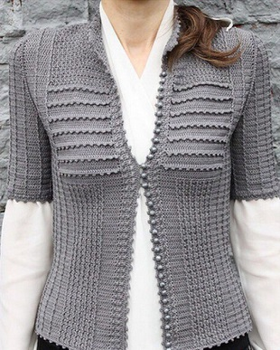 Chaqueta crochet formal