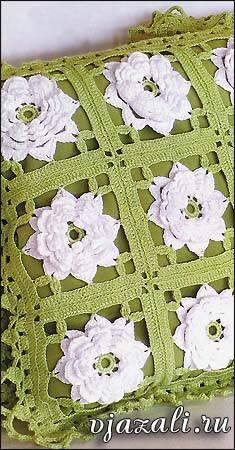 Cojín crochet granny