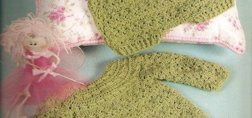Conjunto crochet bebé 3 piezas