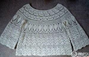 Crochet blusa calada