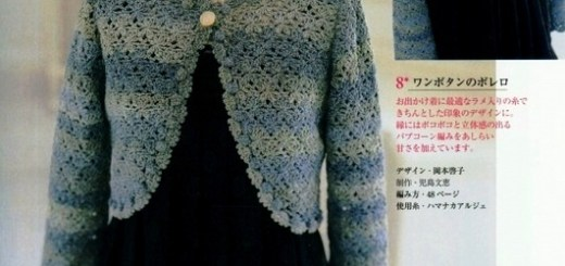 Crochet bolero sweater