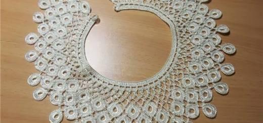 Cuello crochet fino