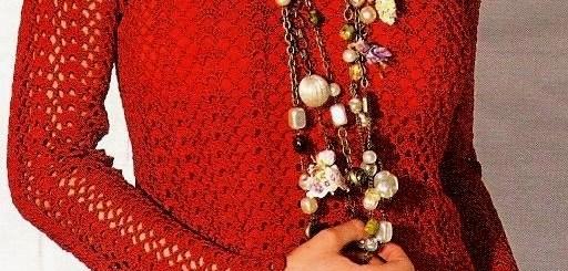 Ganchillo Blusa roja