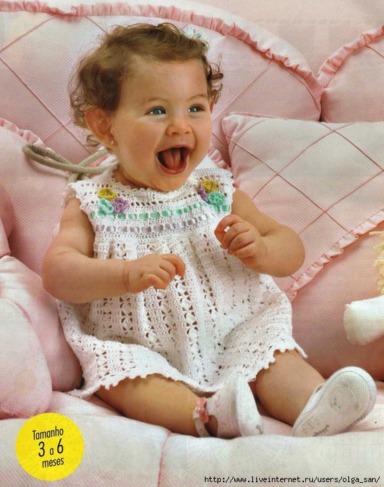 Ganchillo vestido bebé