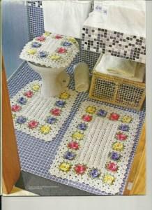 Juego cuarto de baño en crochet