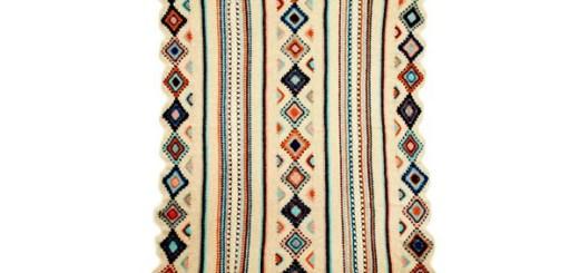 Manta crochet diseño con motivo