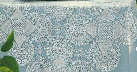 Mantel de mesa a crochet