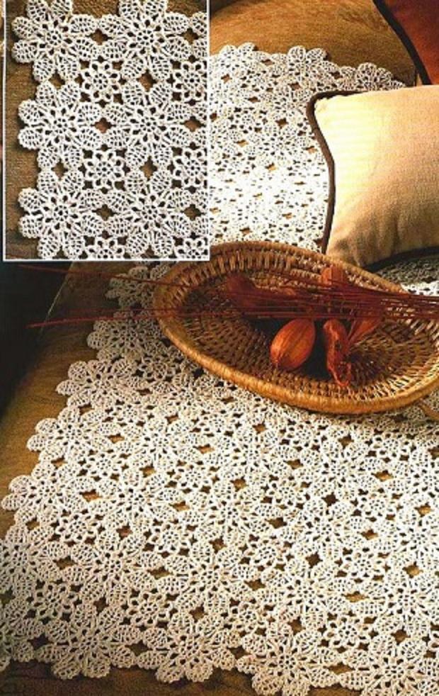 Manteles de crochet patrones