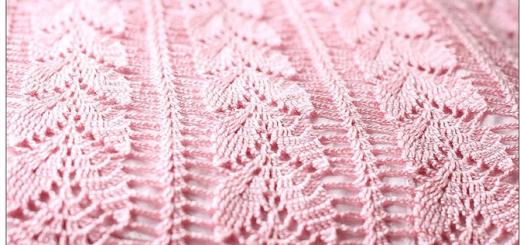 Puntada crochet hojas