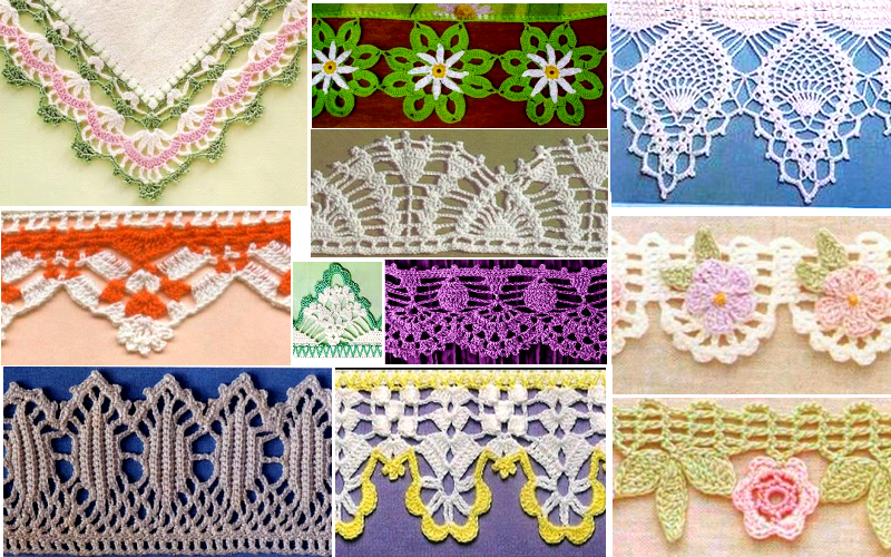 Puntillas a crochet patrones