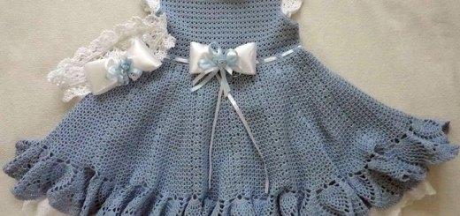 Vestido crochet gala niñas