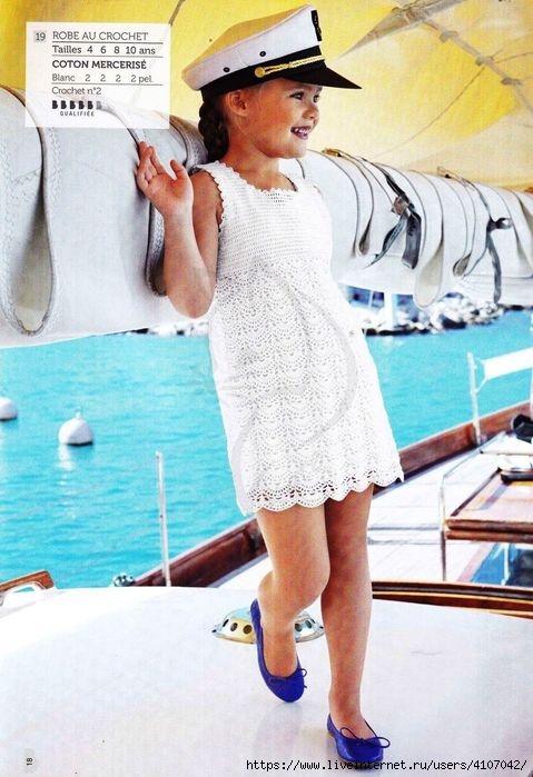 Vestido gancho de niña