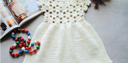 Vestidos de niña a crochet