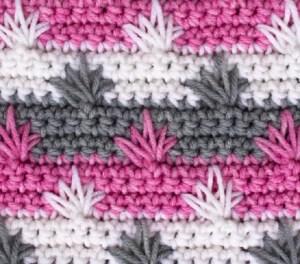 Puntada crochet fantasía