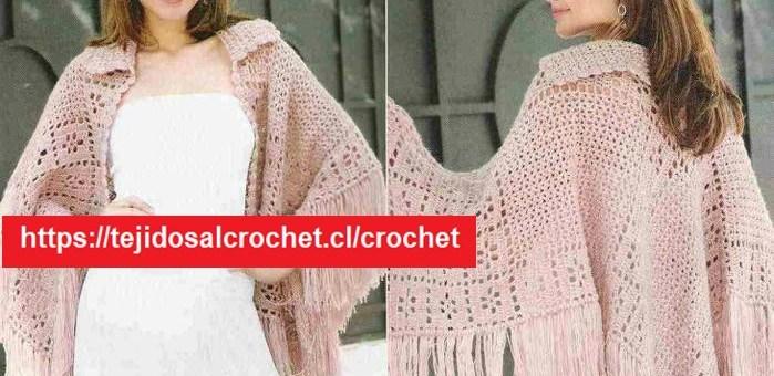 Chal Crochet en Rosa