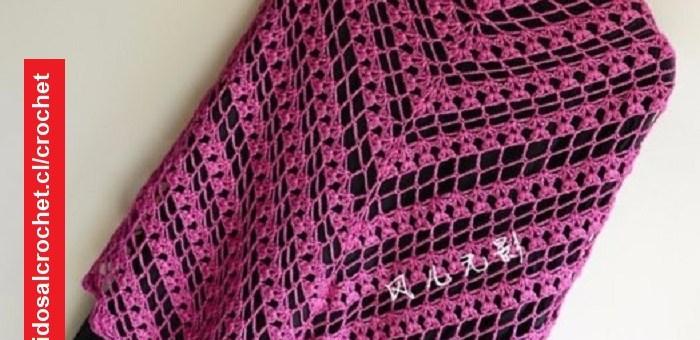 Chal en V Crochet