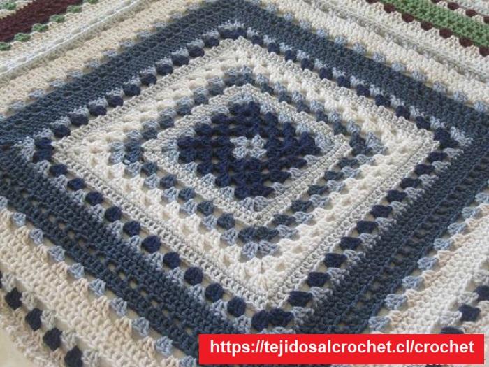 Motivo para Manta de Crochet