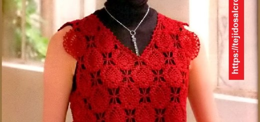 Polera Crochet en Rojo