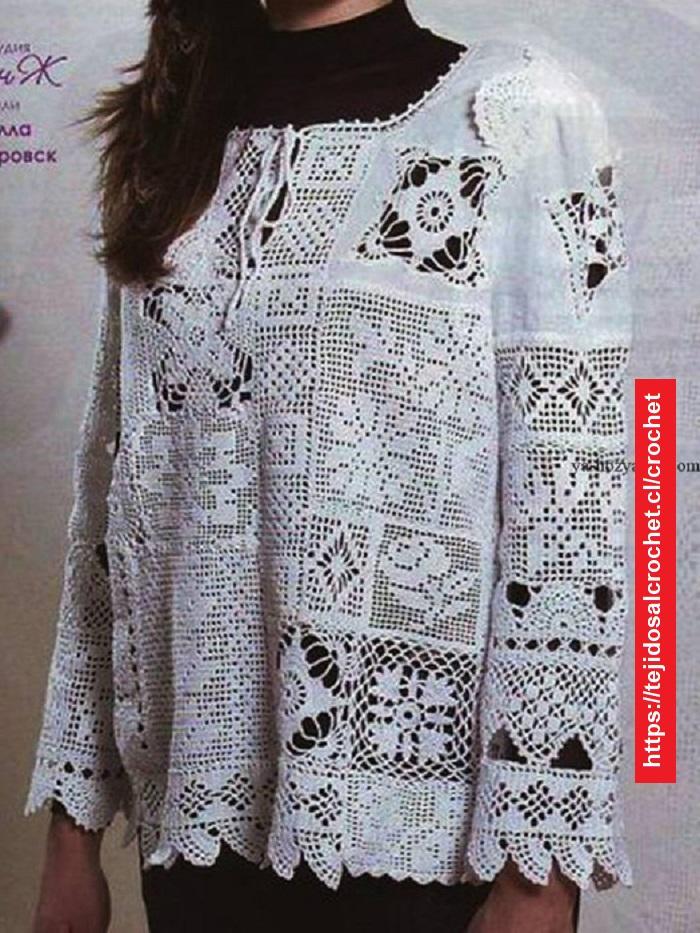 Polera Pachwork crochet