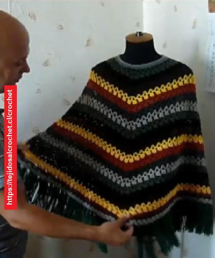 Poncho Crochet Puntada