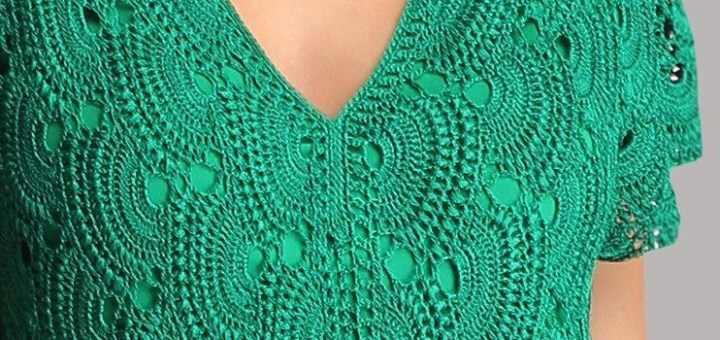Punto Blusa o Vestido Crochet