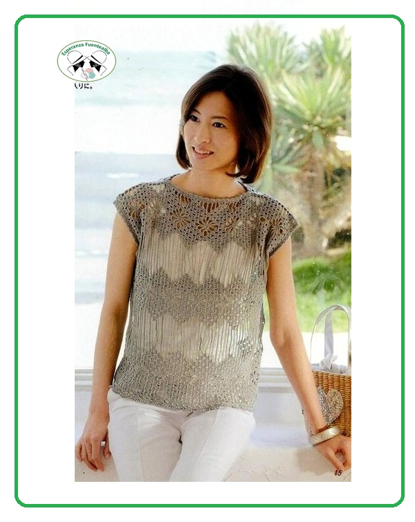 Blusas tejidas a crochet hermosas