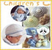 Gorros tejidos a gancho para niños