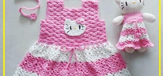 Vestidos a crochet para niña