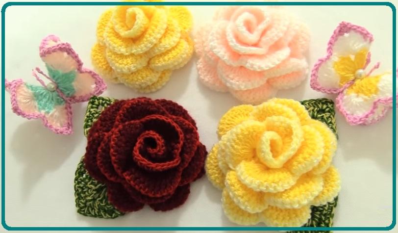 Como hacer flores a crochet Tejidos al Crochet