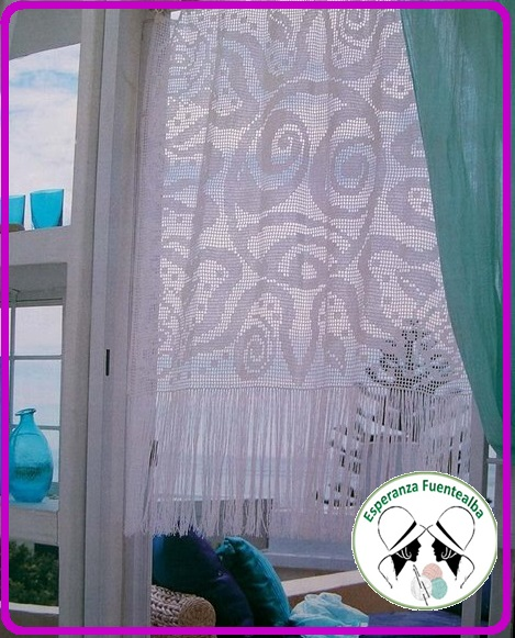 Cortinas al crochet