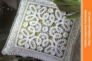 Almohadón crochet cuadrado