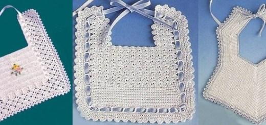Baberos crochet patrones