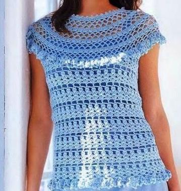 Blusa crochet Margarita