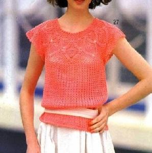Blusa crochet con piña