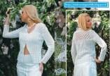 Chaleco crochet dama en blanco