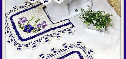 Como hacer juego de baño a crochet