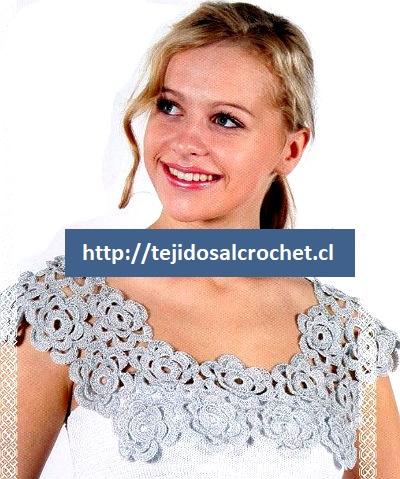 Cuellos tejidos a crochet paso a paso0