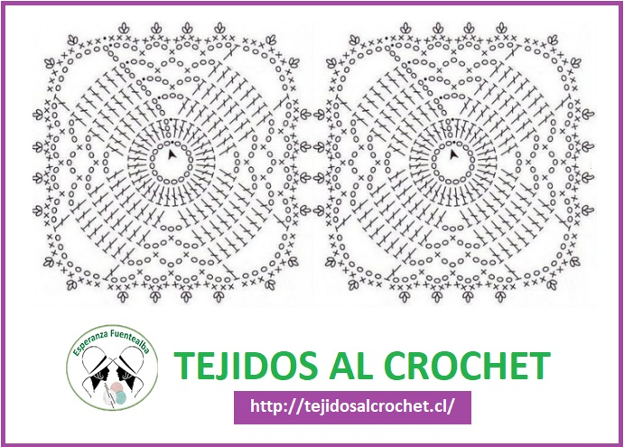 Mantel tejido a crochet cuadrado1