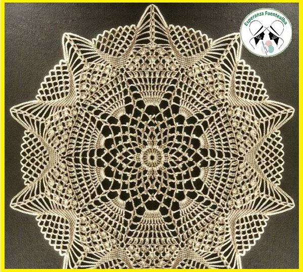 ✅Manteles crochet patrones. Un lindo tapete o mantel de ganchillo