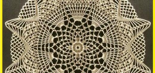 Manteles crochet patrones
