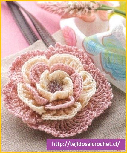Patrones de flores a crochet5