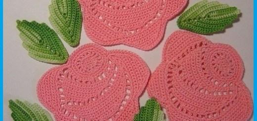 Rosas a crochet patrones