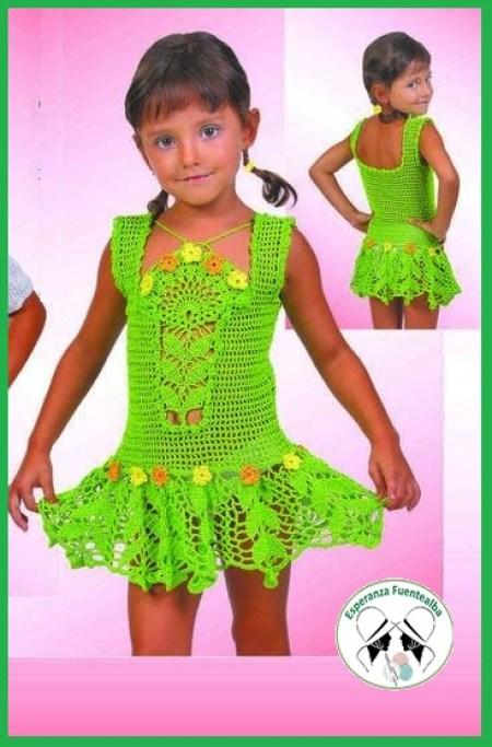 Vestidos de ganchillo niña