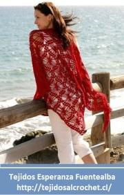 Crochet poncho. Lindo poncho tejido con gancho, con un esquema simple