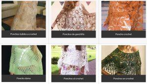 Modelos de ponchos tejidos al crochet