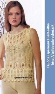 Patrones de blusas elegantes. Un esquema de blusa tejida al crochet