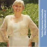 Patrones de tejidos a crochet. Lindo, elegante y formal bolero