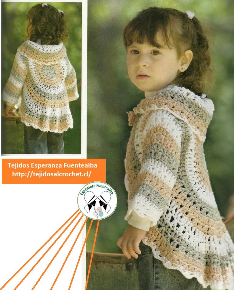 Patrones gratis bebe. Lindo diseño de chaleco para nenas de 3 años