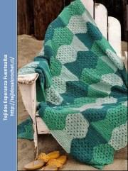 Tejidos y crochet. Extraordinario esquema de manta a crochet